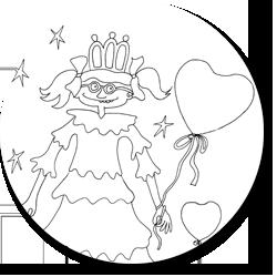 kleurplaat grappige prinses